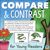 Compare and Contrast Graphic Organizers Reading Passages Activities