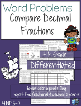Fraction and Decimal Understanding Word Problems 4.NF.5  4.NF.6  4.NF.7