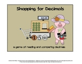Compare Decimals Game: Math Game for 4th Grade (possibly 3