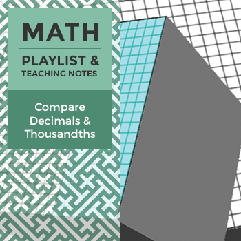 Compare Decimals and Thousandths - Playlist and Teaching Notes