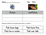 Compare Fish Fiction vs Nonfiction