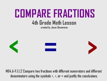 Compare Fractions with Unlike Denominators, Flipchart