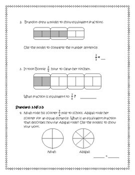 Compare Fractions (3rd Grade Go Math Chapter 9)