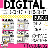 Compare Fractions BUNDLE for Google Classroom