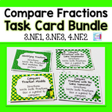 Compare Fractions Task Cards Bundle