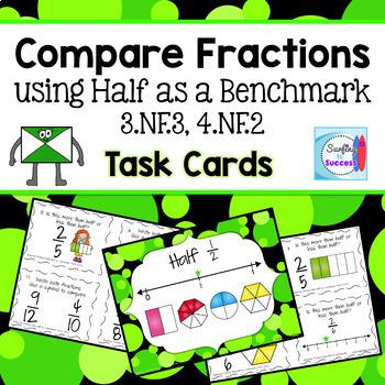 Compare Fractions Task Cards Bundle