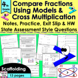 Compare Fractions Cross Multiplication: notes, CCLS practi