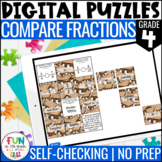 Compare Fractions Digital Puzzles {4.NF.2} 4th Grade Math