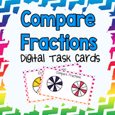 Compare Fractions Digital Task Cards
