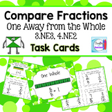 Compare Fractions One Away from the Whole Task Cards