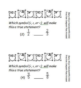Compare Fractions Pass Around