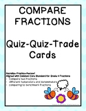 Compare Fractions Quiz Quiz Trade Cards