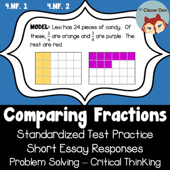 Compare Fractions - Short Essay - Problem Solving (3.NF.A.3) (4.NF.A.2)