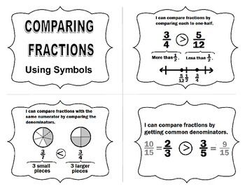 Compare Fractions Task Cards