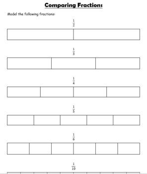 Compare Fractions & Unit Fractions GUIDED NOTES