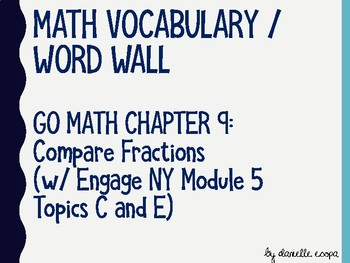 Compare Fractions Vocabulary