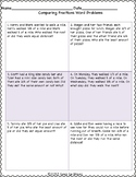 Compare Fractions Word Problems
