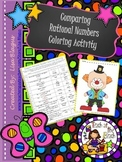 Compare Fractions and Decimals & Word Problems Coloring Acvitity