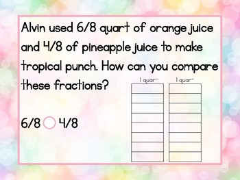Compare Fractions for 3rd Grade - GO Math