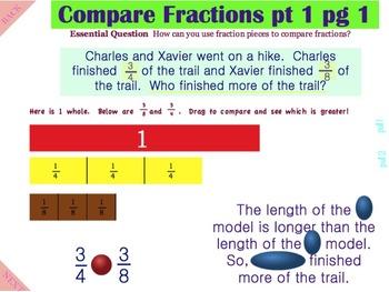Compare Fractions pt 1 - A Common Core Interactive Mimio Lesson