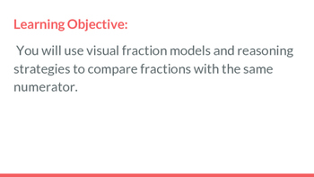 Compare Fractions with Same Numerator