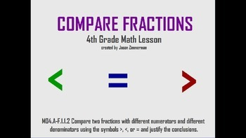 Compare Fractions with Unlike Denominators