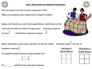 Compare Fractions with the Same Denominator