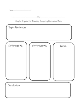 Compare Graphic Organizer
