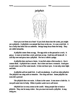 Compare Informational Passages -- Jellyfish
