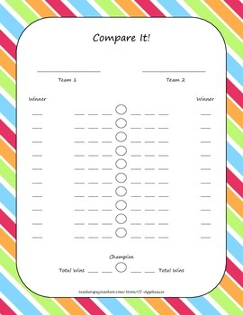 Place Value Game - Compare It!