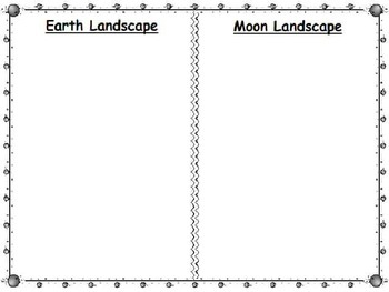 Compare Landscapes of the Earth and the Moon