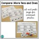 Compare!  MORE tens and ones game for math centers
