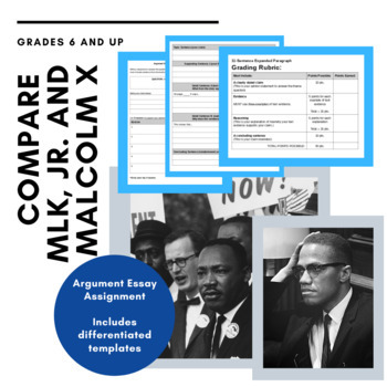 Compare Martin Luther King Jr. and Malcolm-Argument Writing
