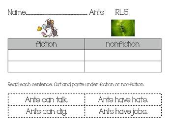 Compare Nonfiction Fiction Ants