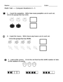Compare Numbers 0 - 5 Assessment EDITABLE