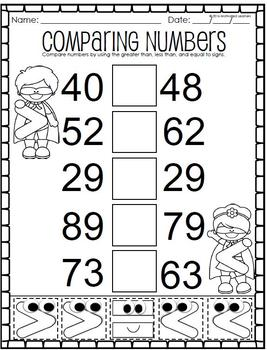 Comparing Numbers:Greater than, Less than, Equal to (Cut and Paste)
