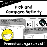 Compare Numbers-Place Value Activity (First Grade, 1.NBT.3)