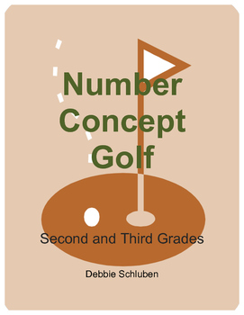 Compare Numbers, Round, Odd/Even, Place Value Golf Games for 2nd & 3rd Grades