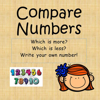 Compare Numbers Worksheet