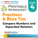 Compare Numbers and Expanded Notation Printable Worksheet, Grade 4