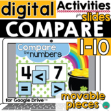 Compare Numbers to 10 Activity for Google Slides DISTANCE