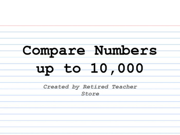 Compare Numbers up to 10,000