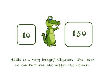 Compare Numbers with Addie the Alligator