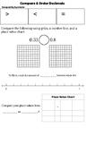 Compare & Order Decimal Notes