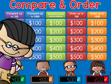 Compare & Order Jeopardy Style Game Show  2nd/3rd Gr