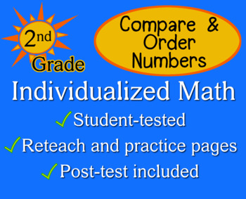 Compare & Order Numbers, 2nd grade - Individualized Math - worksheets