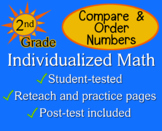 Compare & Order Numbers, 2nd grade - worksheets - Individualized Math