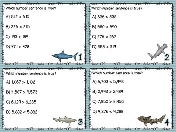 Compare & Order Numbers Task Cards