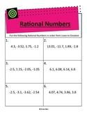 Compare & Order Rational Numbers (Decimals)