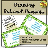 Compare Order Rational Numbers ISN Notes and Task Cards TEKS 6.2D